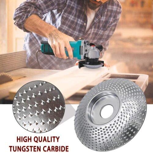 CZS Disco de talla de madera 4/4.5 pulgadas de ángulo de la rueda de la amoladora del disco de carpintería Circular de cadena y disco grueso para amoladora