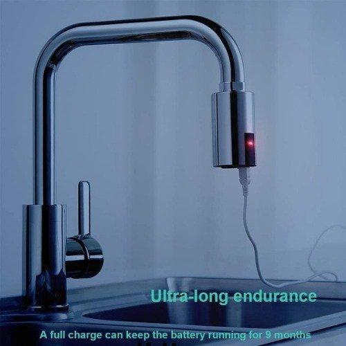 Adaptador de grifo inteligente sin contacto para cocina y baño, adaptador de grifo automático sensor de movimiento
